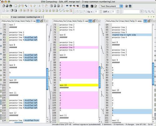 Capture d'écran ECMerge Pro (Mac OS X)