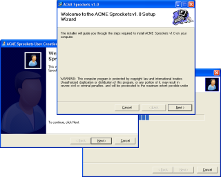Capture d'écran WinFormWizard for .NET 1.1