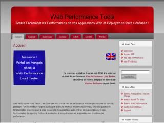 Capture d'écran Web Performance Load Tester