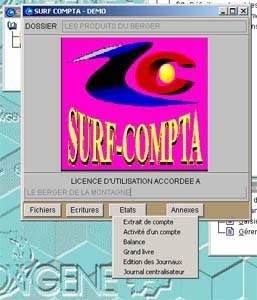 Capture d'écran SURF COMPTA
