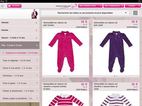 Capture d'écran Vente-privee.com iOS