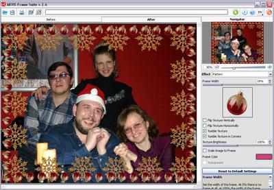 Capture d'écran AKVIS Frame Suite