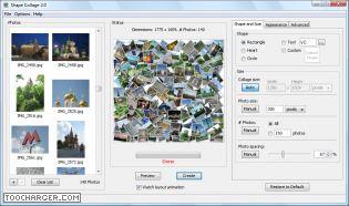 Capture d'écran Shape Collage