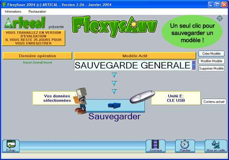 Capture d'écran flexysauv