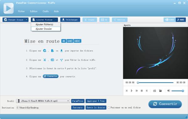 Capture d'écran FonePaw Convertisseur Vidéo