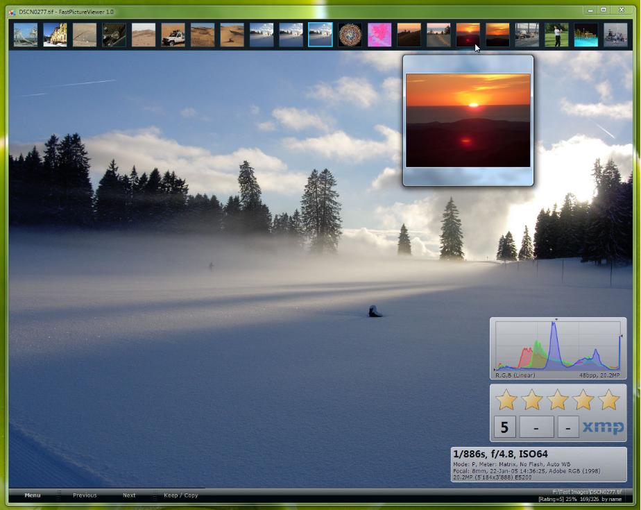 Capture d'écran FastPictureViewer