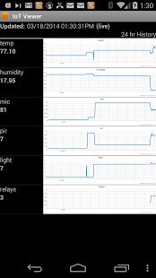 Capture d'écran IoT Viewer