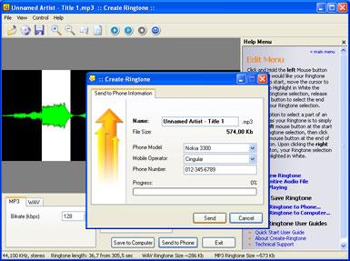 Capture d'écran Create Ringtone