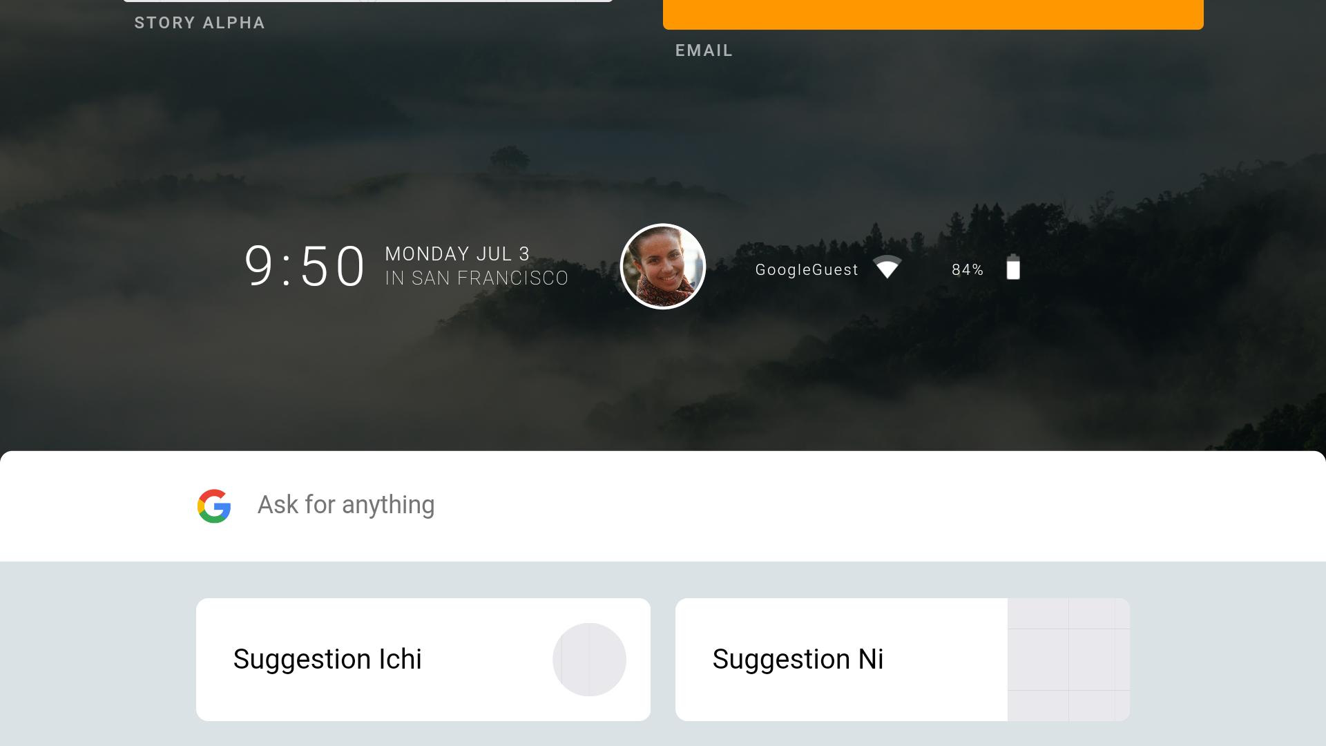 Capture d'écran Fuchsia OS