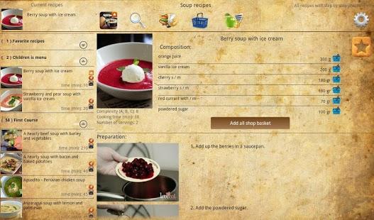 Capture d'écran Soup recipes