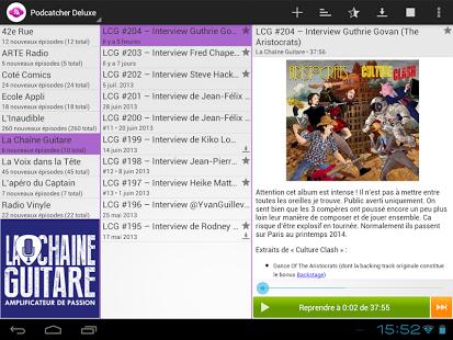 Capture d'écran Podcatcher Deluxe