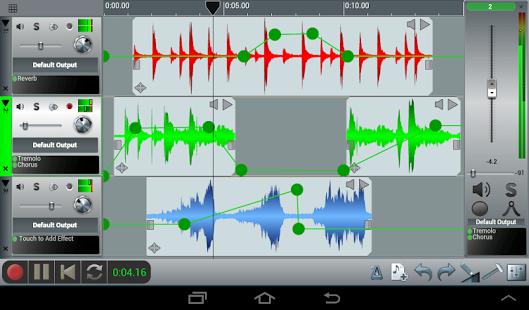 Capture d'écran N-Track Studio DAW Multipiste