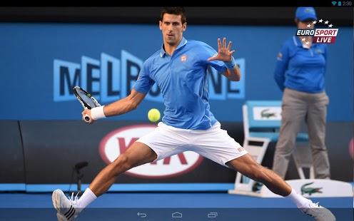 Capture d'écran Eurosport Player