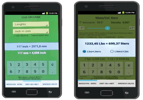 Capture d'écran Aero Convert Android   Version 1.1.0  édition du 17/05/2014