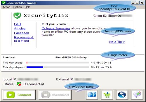 Capture d'écran SecurityKISS