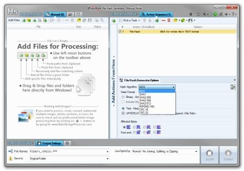 Capture d'écran File Hash Generator