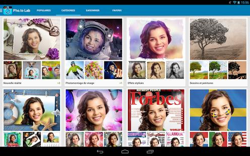 Capture d'écran Pho.to Lab : montage photo