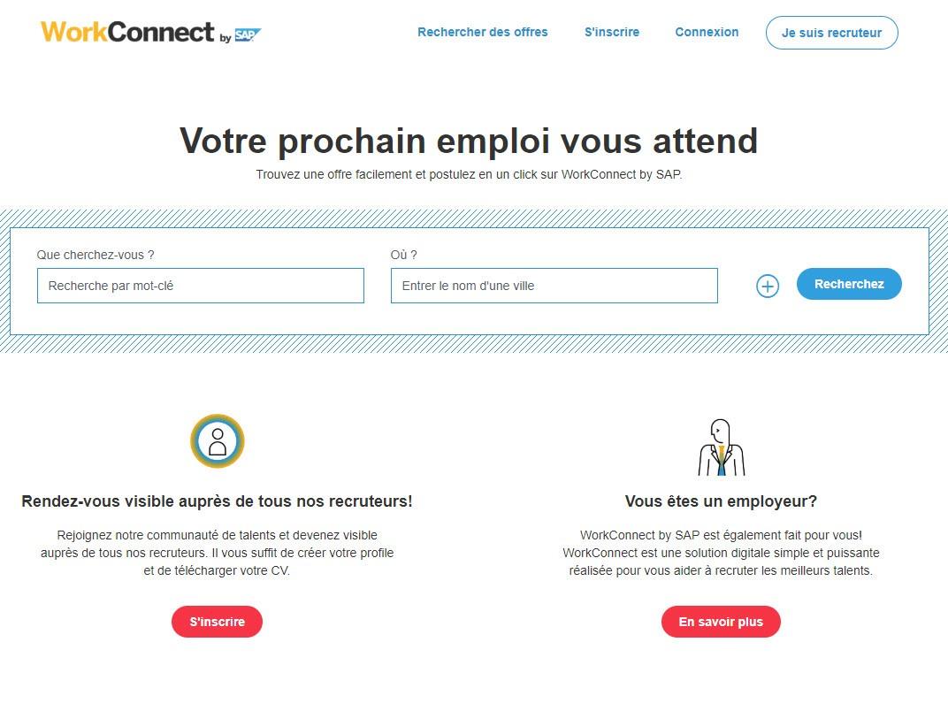 Capture d'écran Workconnect