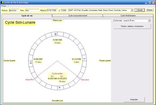 Capture d'écran Cycles de Vie & Astrologie