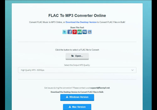 Capture d'écran FLAC To MP3 Converter Online 1.0