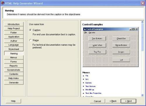 Capture d'écran Help Generator for Visual Studio 2005