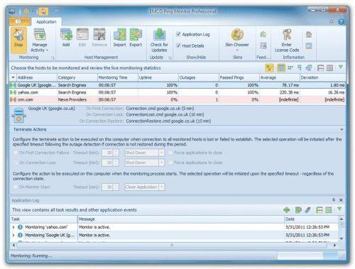 Capture d'écran Ping Monitor Professional