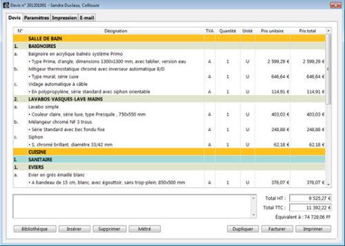 Capture d'écran E-bat Windows