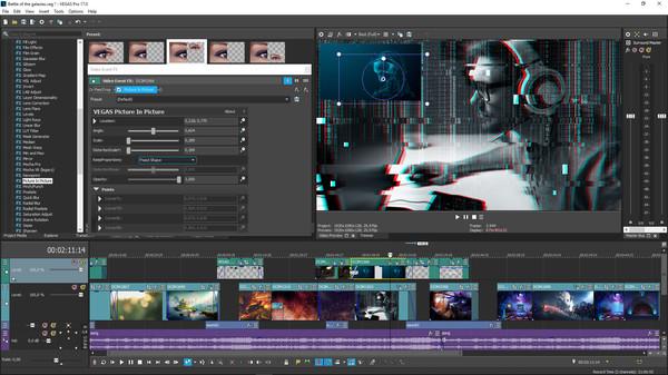 Capture d'écran Vegas Pro Edit 17