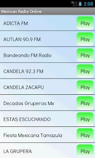 Capture d'écran Mexicaine radio sur internet