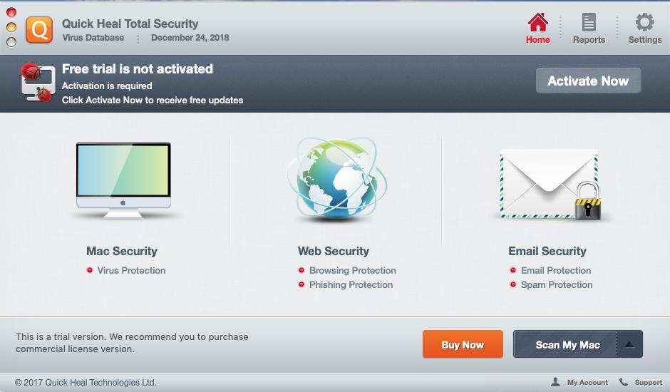 Capture d'écran Quick Heal Total Security pour Mac
