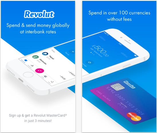 Capture d'écran Revolut Android