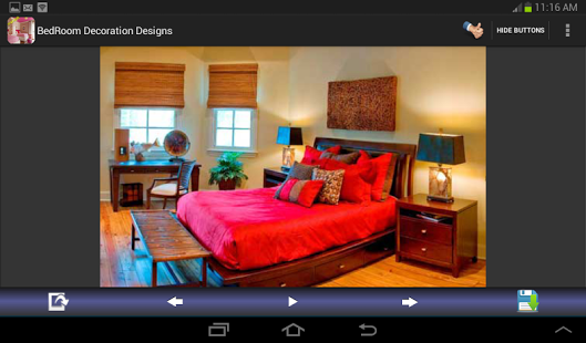 Capture d'écran Bedroom Decoration Designs