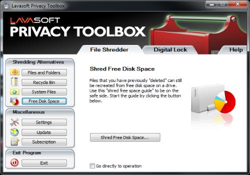 Capture d'écran Privacy Toolbox