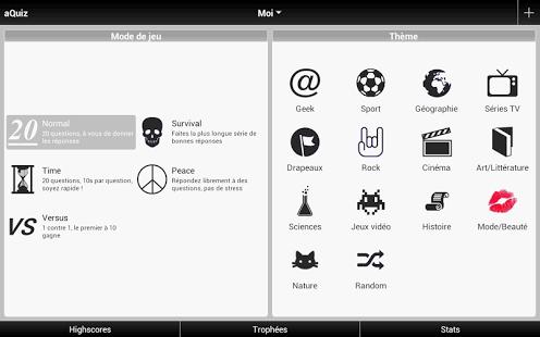 Capture d'écran AQuiz – Quizz de culture G