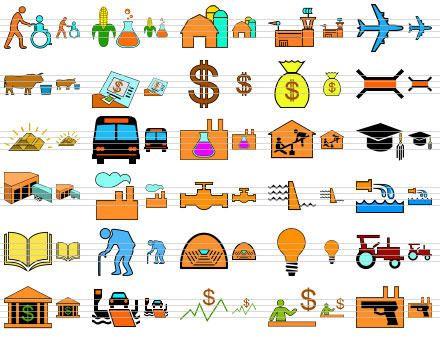 Capture d'écran Standard Infrastructure Icons