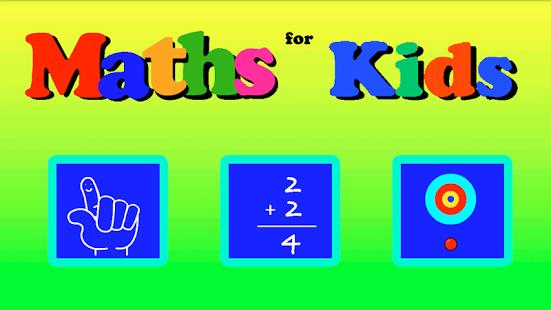Capture d'écran Maths for Kids