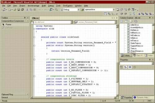 Capture d'écran ZLIB.NET