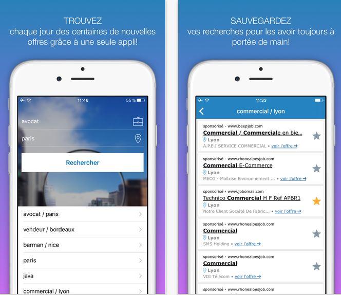 Capture d'écran Job Rapido iOS