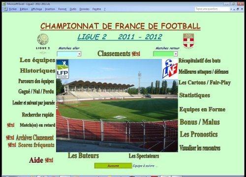 Capture d'écran Ligue2 2011-2012