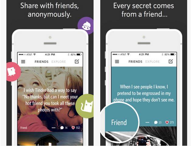 Capture d'écran Secret iOS