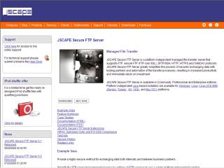 Capture d'écran JSCAPE Secure FTP Server