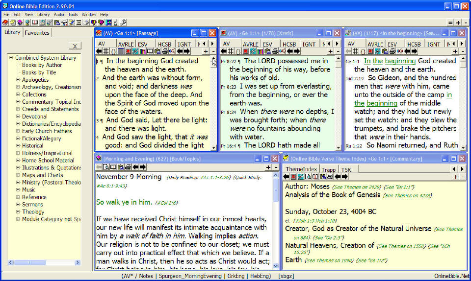 Capture d'écran Bible Online