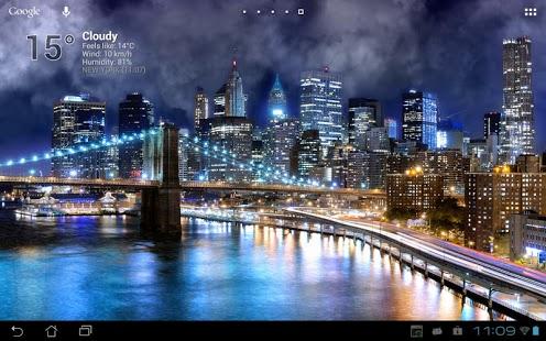 Capture d'écran True Weather, Villes