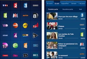 Capture d'écran B.tv iOS