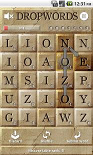 Capture d'écran Dropwords