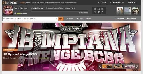 Capture d'écran Djindo Musique Afrique