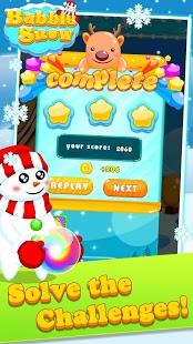 Capture d'écran Bubble Snow