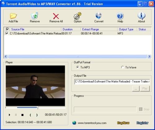 Capture d'écran Torrent All to MP3 Converter
