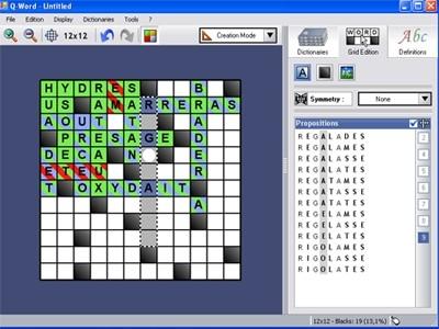 Capture d'écran Q-Word