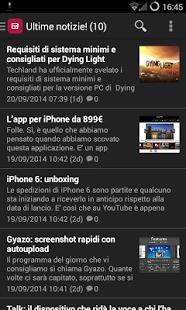 Capture d'écran Notizie Tecnologia e Internet